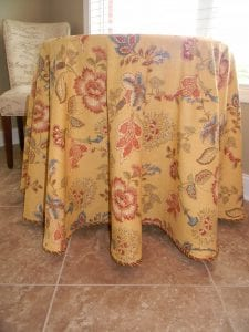 golden flower table cloth